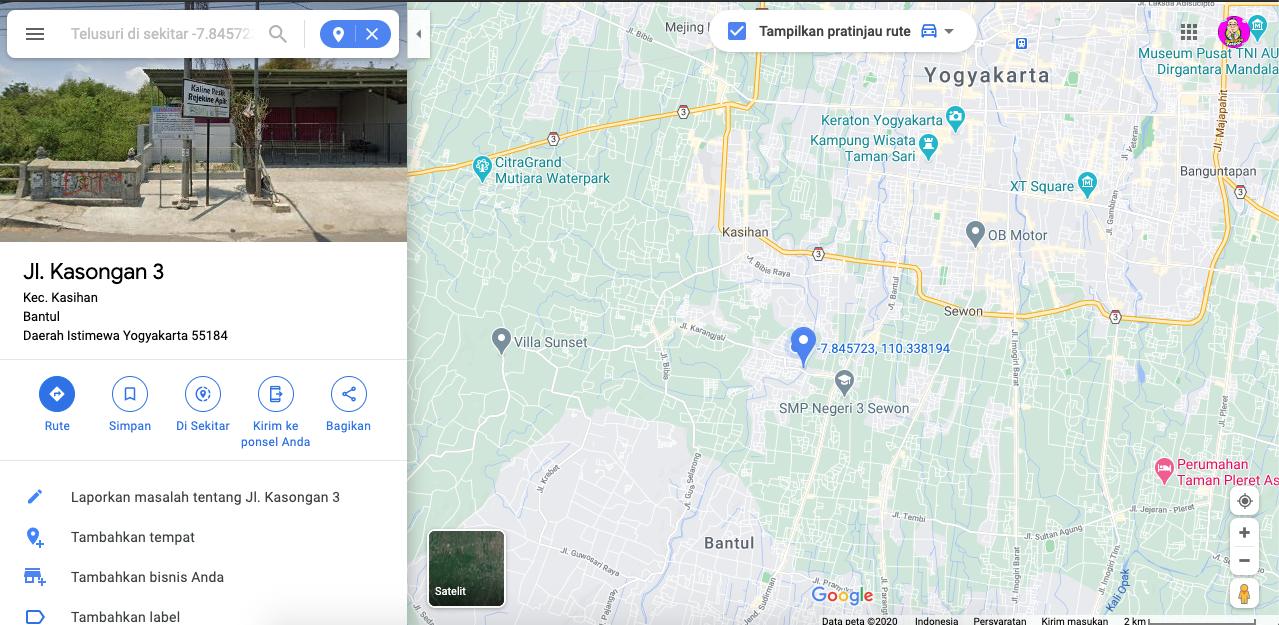 Peta Desa Wisata Kasongan | craftkasongan.com